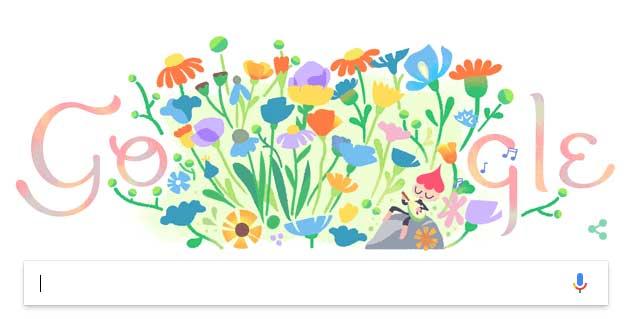 Frühlingsanfang 2018 bei Google
