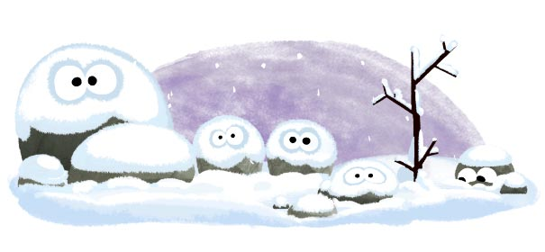 Winteranfang Google Doodle