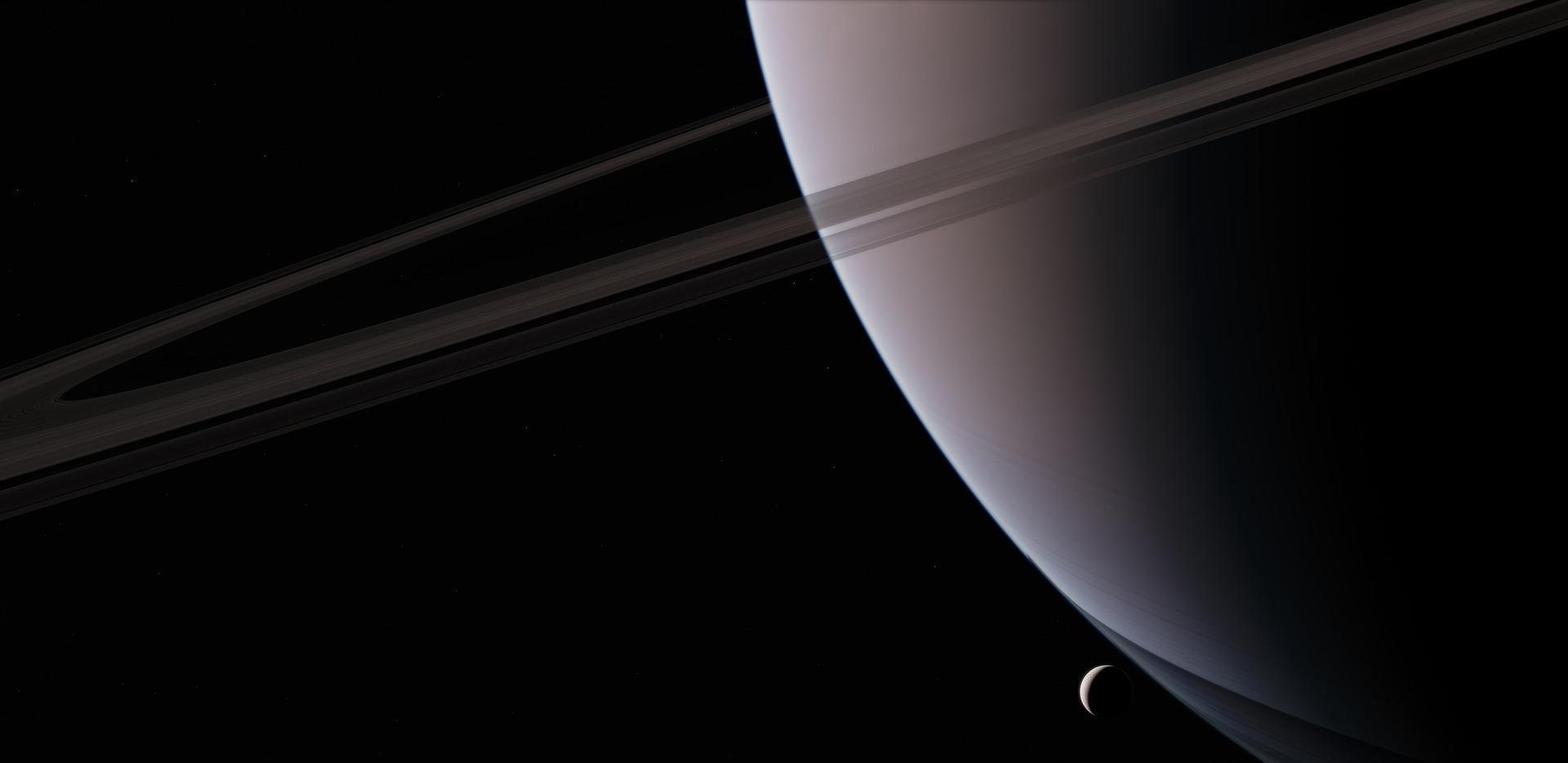 Der Saturn verfügt über 69 Monde