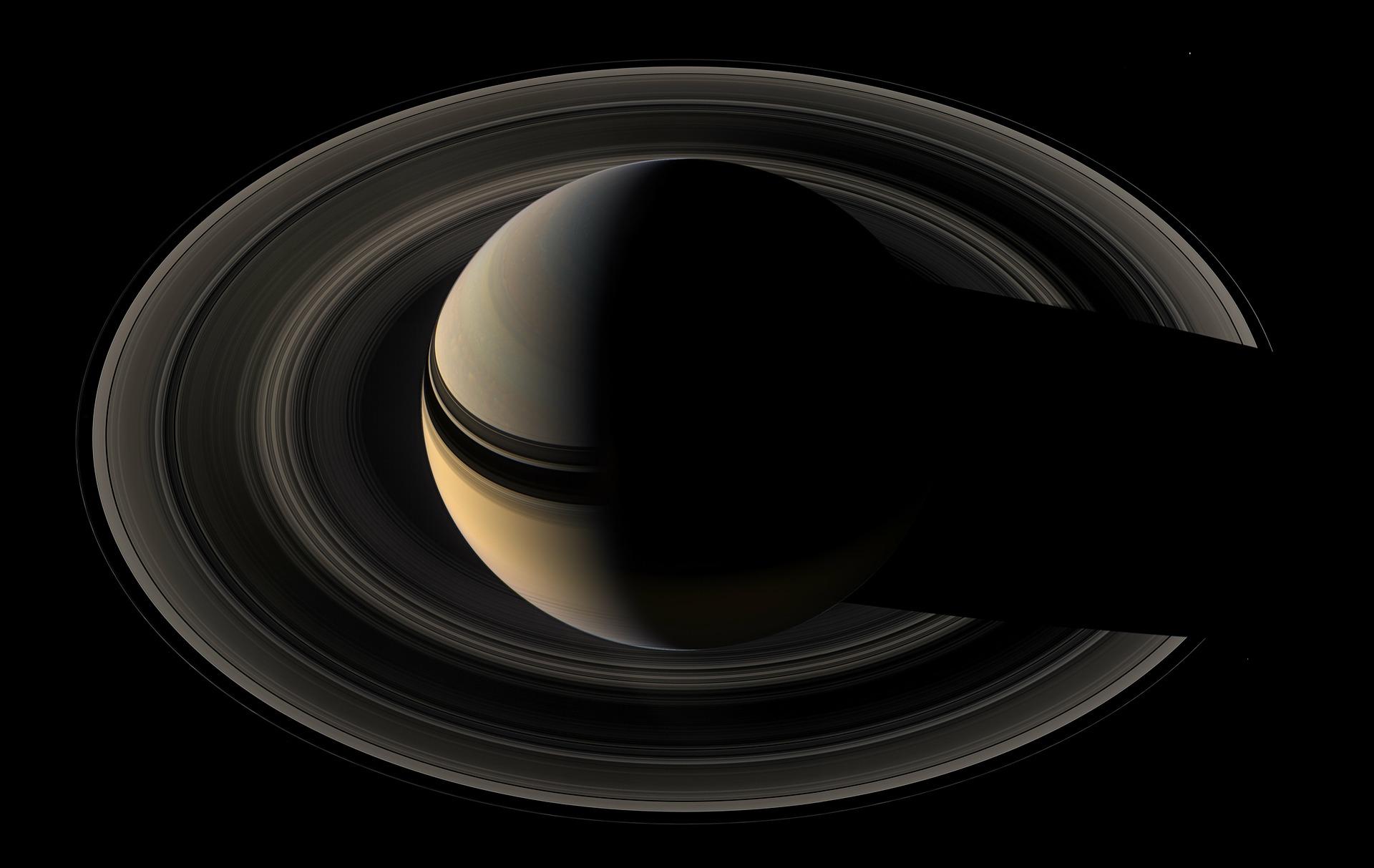 Saturn mit seinen eindrucksvollen Ringen