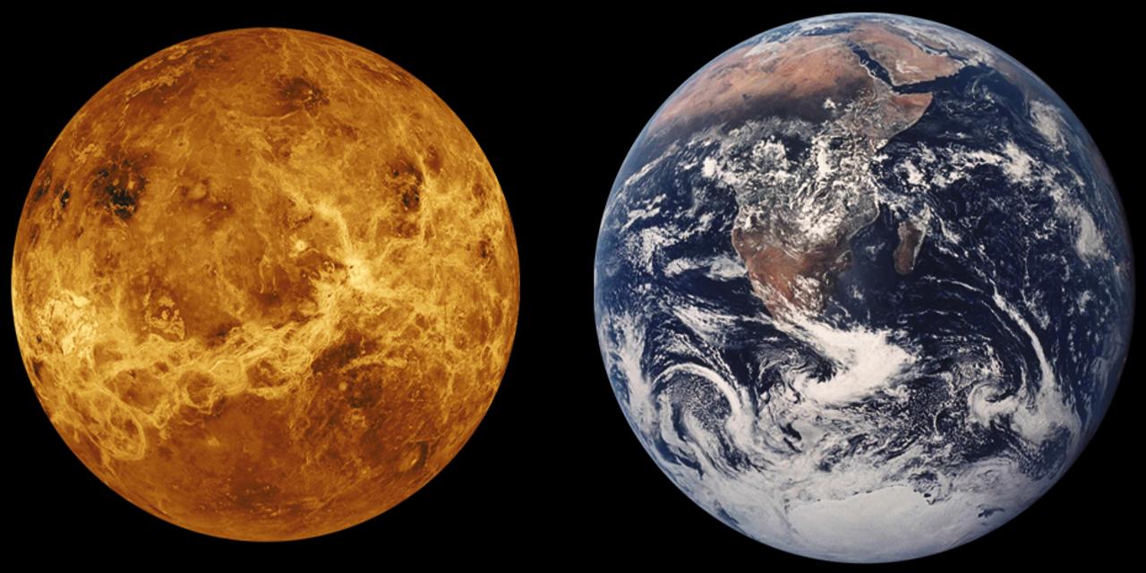 Venus Erde im Vergleich